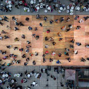 tango dance photography - fine art aerial photography - urban landscapes - Milonga -
