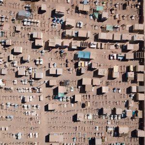 Aerial landscape photography - city landscape photos - Cemetery in the Atacama Desert