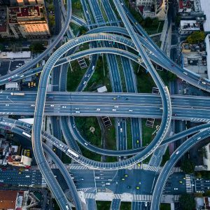 Large size aerial photography -Highway intersection - Buenos Aires