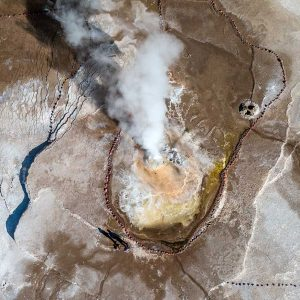 Geyser aerial photography - aerial landscapes - limited edition photos on sale - The Tatio Geysers