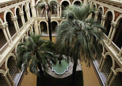 Patio de las palmeras de la Casa Rosada