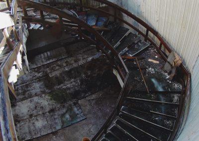 Escaleras de la vieja confitería